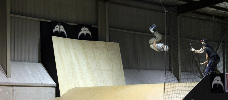 Watch Tristan Richards' epic double misty flip on the mini mega at ARO 2014