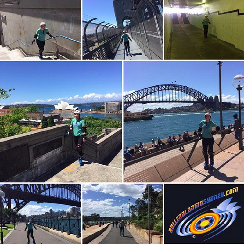Rollerblading Sydney lesson and tour