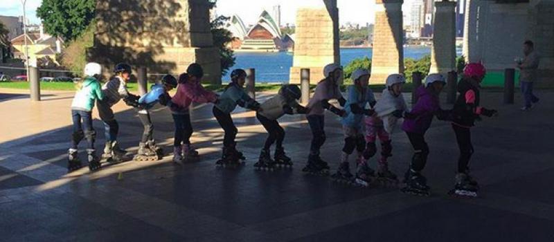 Rollerblading Sydney kids birthday parties