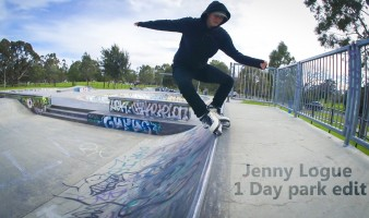 One Day Park edit in Melbourne with Jenny Logue (Bayside Blades): edit by Brad Watson