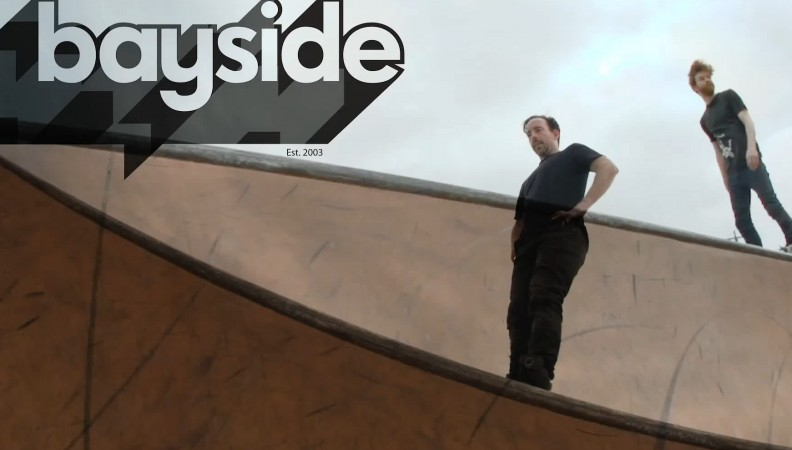 Brad Watson and Hayden Golder check out the new Lara Skatepark in Victoria