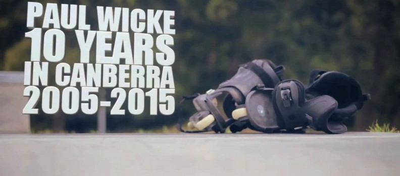 Veteran skater Paul Wicke (36) celebrates 10 years of rollerblading in Canberra